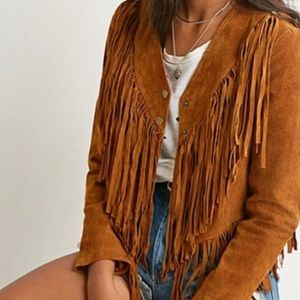 Forever 21 Genuine Leather Suede Jacket